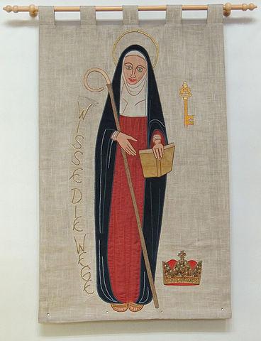 Hildegard von Bingen, Darstellung auf Wandbehang
