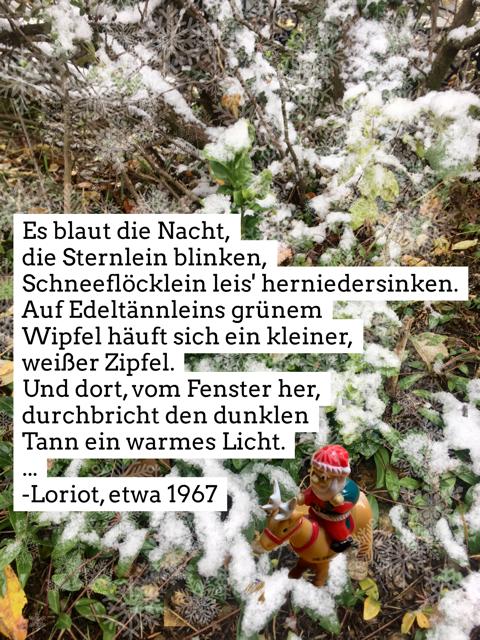 "Gedicht ""Advent"" von Loriot 1967, Anfang"