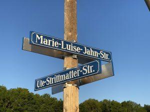 Straßenschilder Ute-Strittmatter-Straße/Marie-Luise-Jahn-Str.