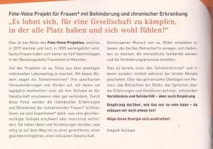 Screenshot der Einleitung des Foto-Voice-Projekts