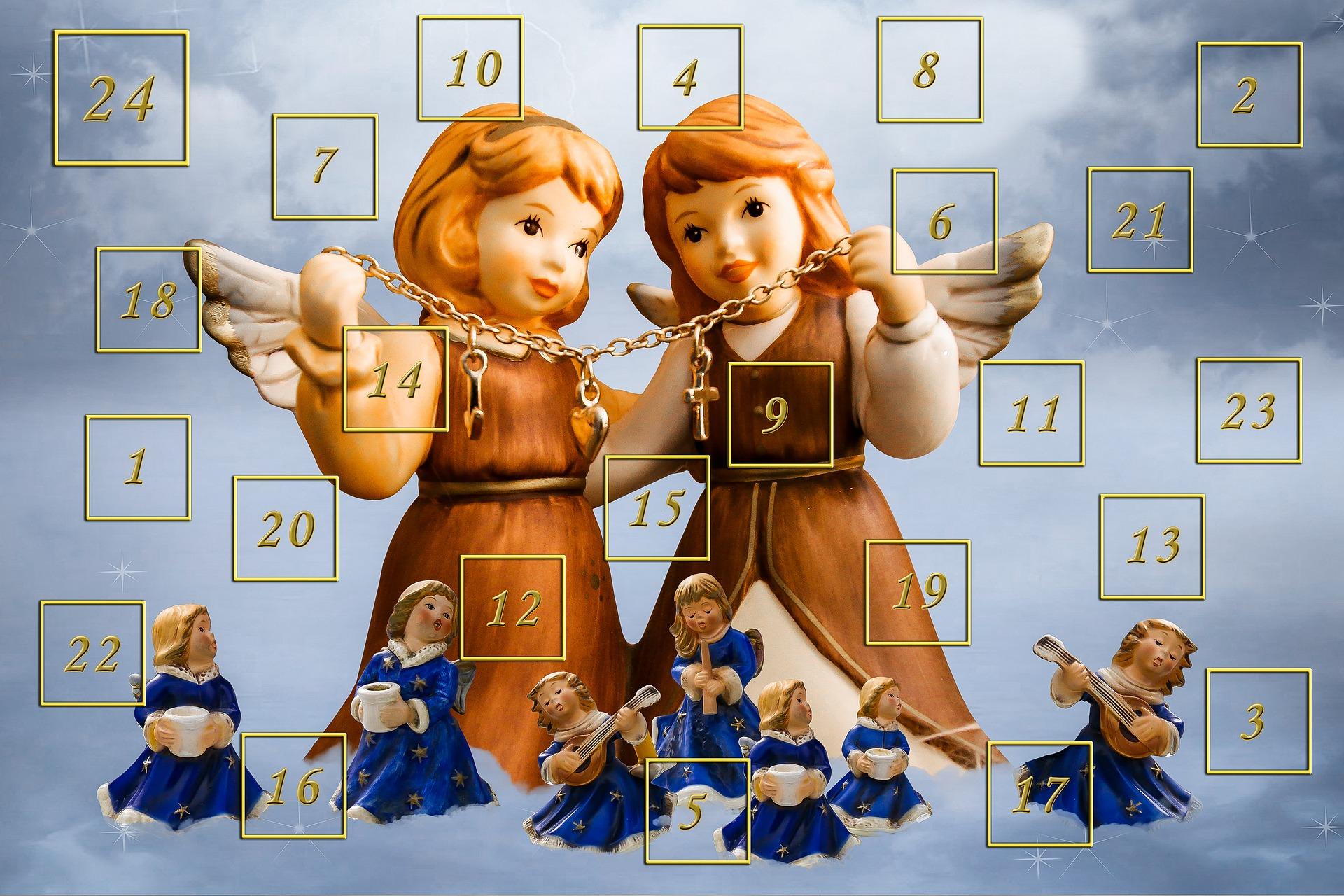 Pixabay: Adventskalender mit Engelinnen