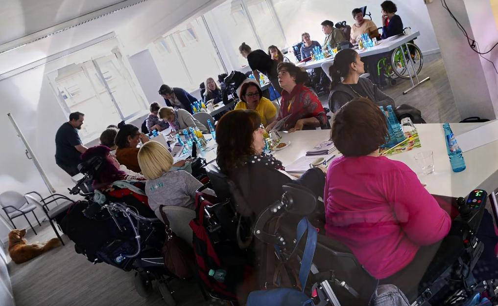Frauen mit Behinderung beim Plenum